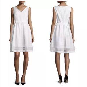 NWOT Kate Spade Ribbon Organza Ivory Dress Sz 12